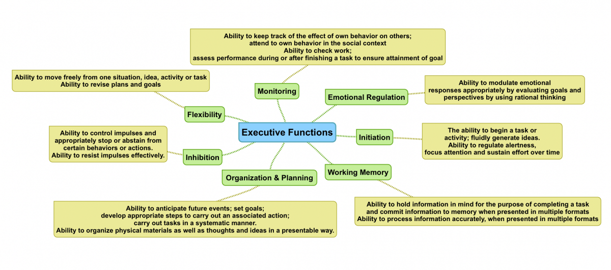 Executive Function Mindmap