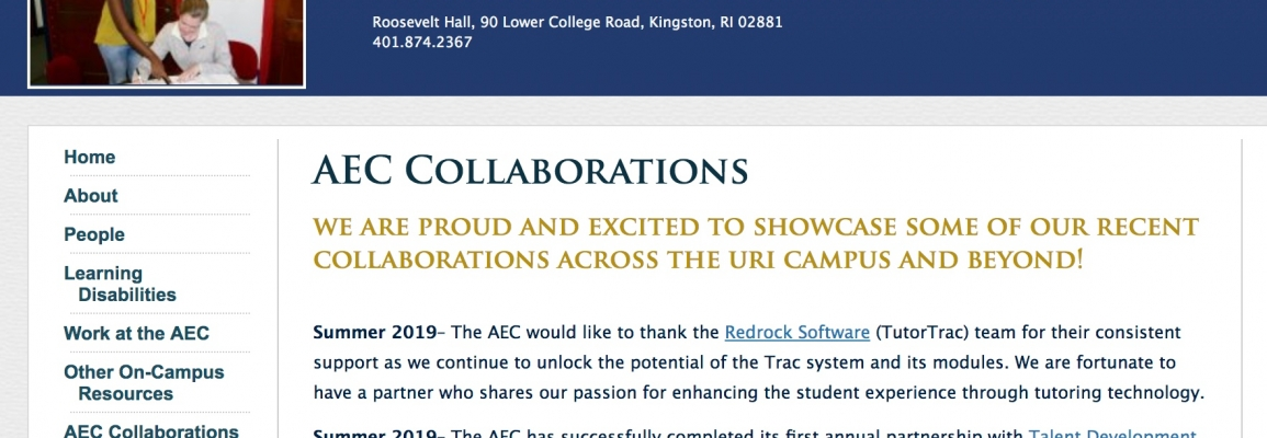 University of Rhode Island Collaboration with Appstate UTS