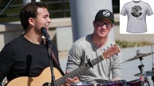 Luke Adams and Grey Oakes band member